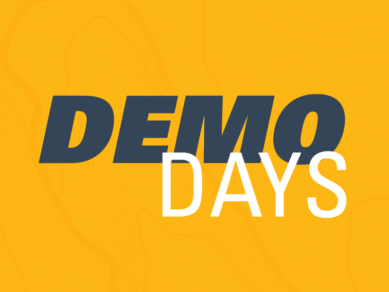 Yellow background Demo Days